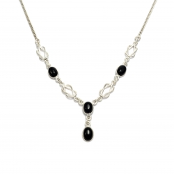 Black onyx knot necklace