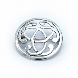 Silver celtic brooch