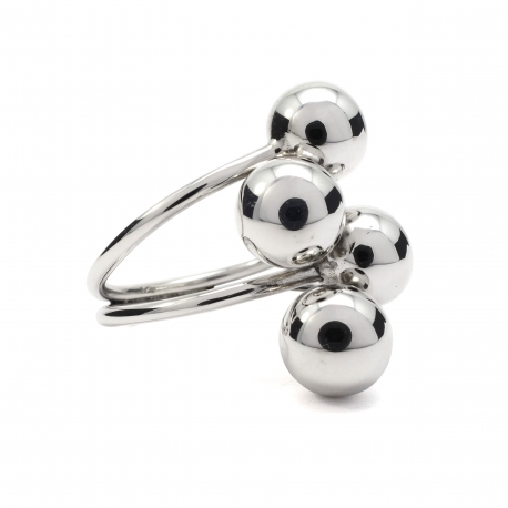 Four balls silver ring