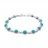 Dainty turquoise silver bracelet