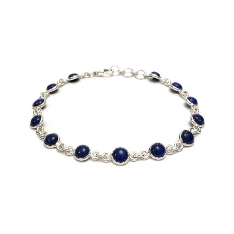 dainty lapis lazuli silver bracelet. Black Bedroom Furniture Sets. Home Design Ideas