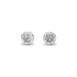 CZ stud silver earring