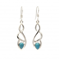 Celtic silver earrings with turquoise