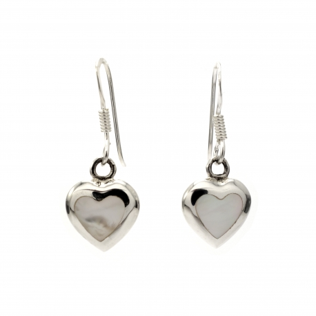 Mother of pearl hanging silver earring