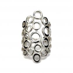 Circles silver ring