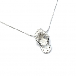 Plain silver flip flop pendant