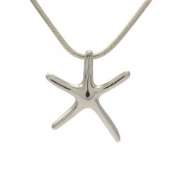 Starfish silver pendant