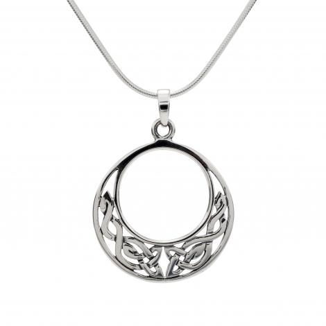Celtic silver round pendant