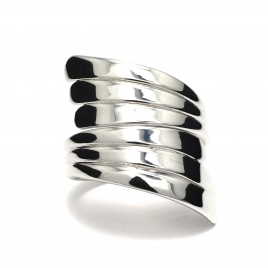 Multi-wrap silver ring