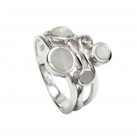 Mother of pearl silver ring