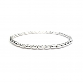 Silver bead stretchy bracelet