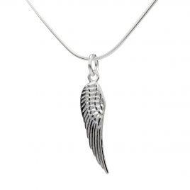 Angel wing silver pendant
