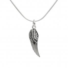 Angel wing silver pendant