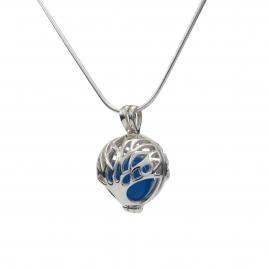 Tree of life silver ball pendant