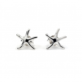 Starfish silver stud earring