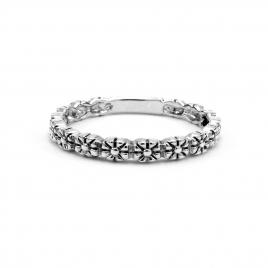 Dainty daisy silver ring