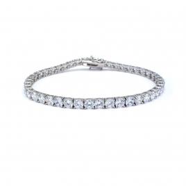 CZ crystal silver tennis bracelet