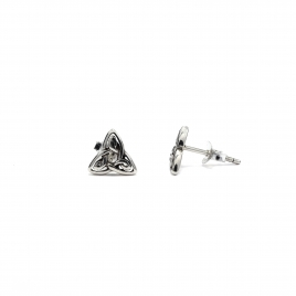 Trinity knot silver stud earrings