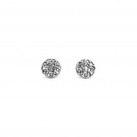 Celtic circle silver studs