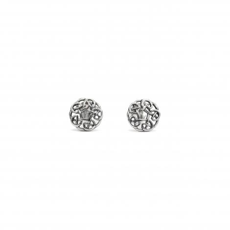 Celtic circle silver studs