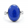 Oval lapis silver ring