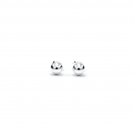 Plain silver ball stud earring