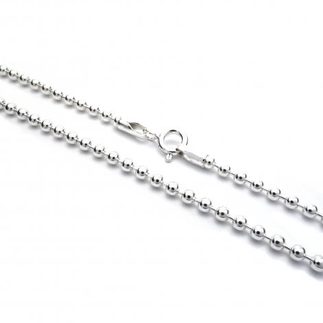 Long 36'' silver balls chain