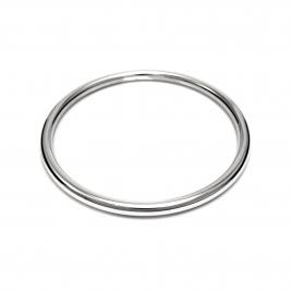 Plain silver bangle