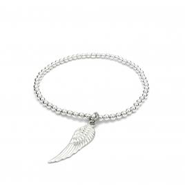 Angel wing silver bracelet