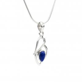Lapis silver pendant