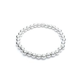 Heavy ball silver bracelet