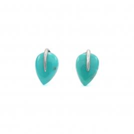 Turquoise teardrop silver stud